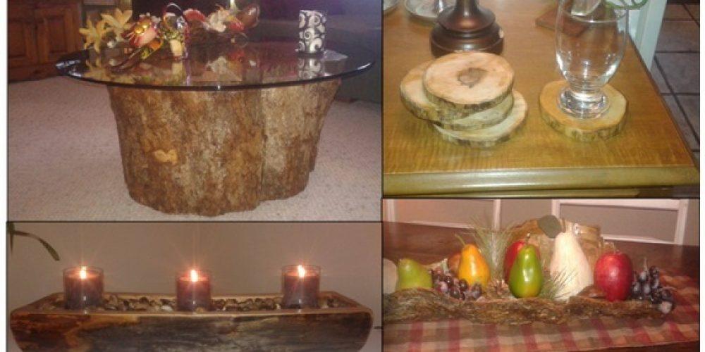 idées déco en bois brut?